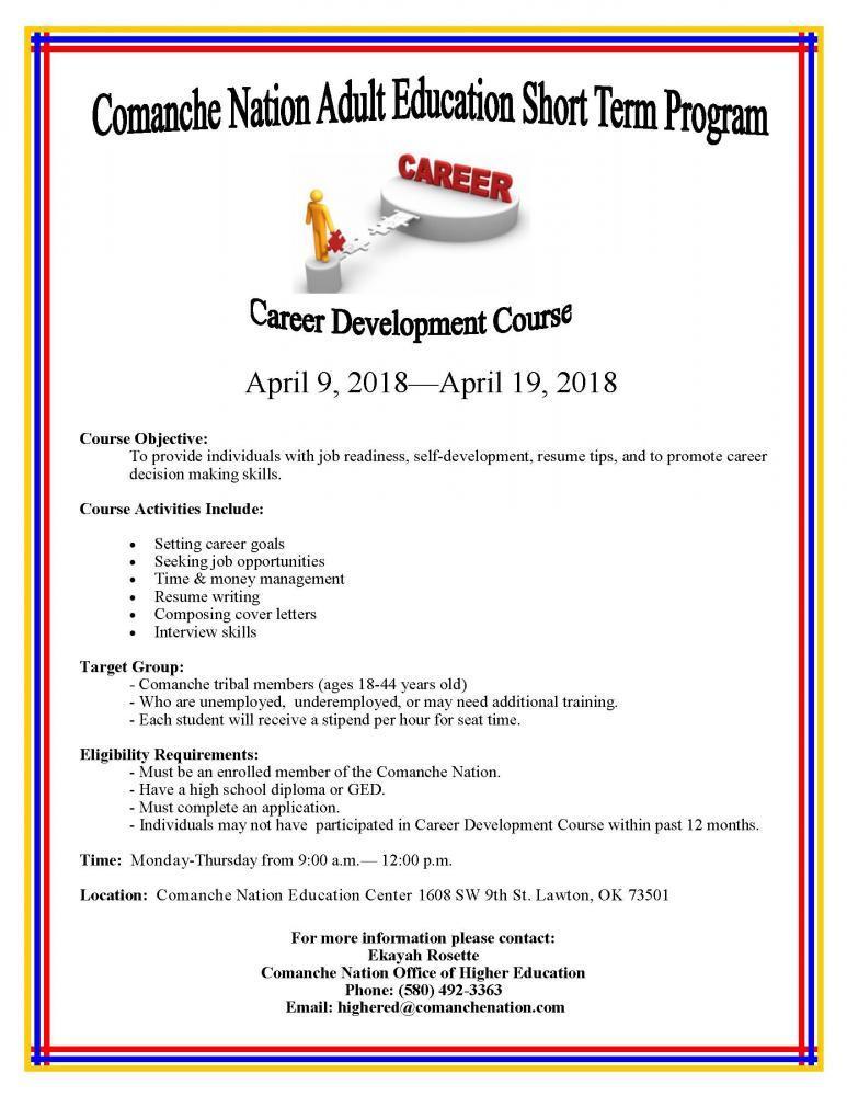 Higher Education Career Development Course | Comanche Nation